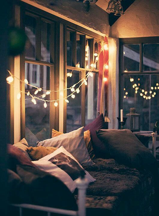 Winter lights make every room look so cozy
