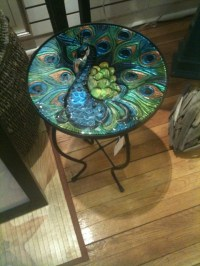 Peacock Table! | plenty o' peacocks | Pinterest