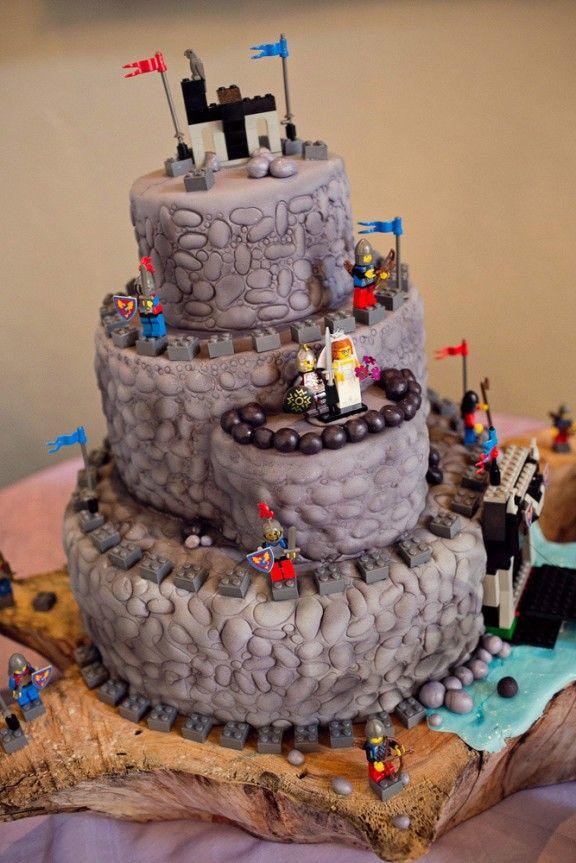 medieval lego cake  Cake ideas  Pinterest