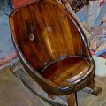 Wine barrel rocking chair lovinit pinterest