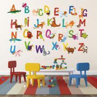 Nursery ABC Alphabet Wall Stickers Children Playroom Wall ...