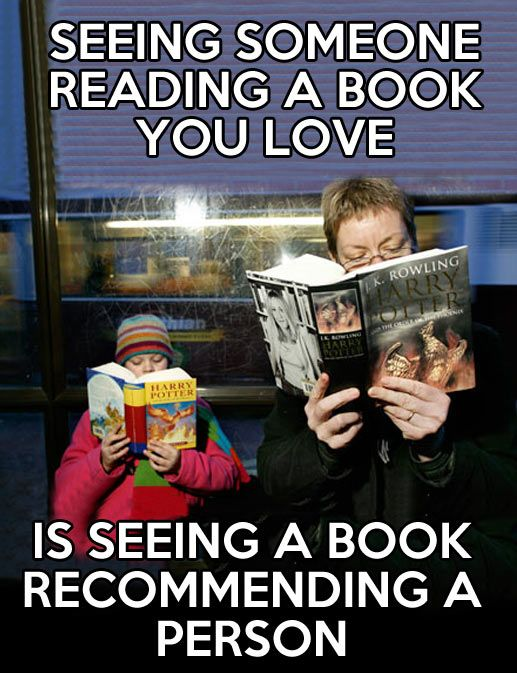 Seeing someone reading a book you love is seeing a book recommend a person http://www.janetcampbell.ca/