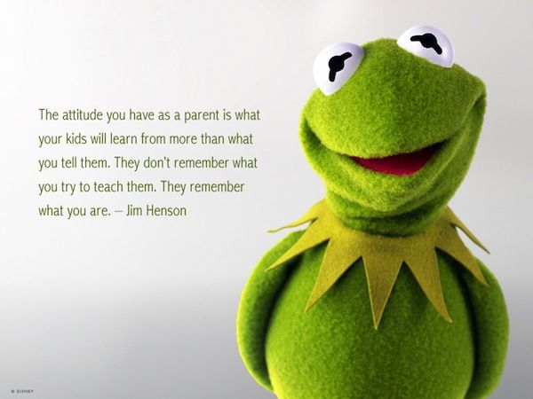 """One of my favorite quotes by Jim Henson. Sharing in honor of his birthday today (September 24th). :)    """"The attitude you have as a pa"""