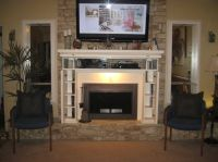 Fireplace mantel with storage | Home | Pinterest