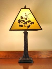 craftsman style lamp with ginko leaves | All Things ...