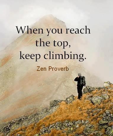 Keep climbing...
