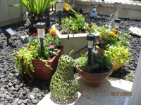 1 of 2 flower pot arrangements on patio 5/30/2012...from a ...