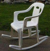 Resin and PVC Pipe Rocking Chair   DIY Gardening   Pinterest