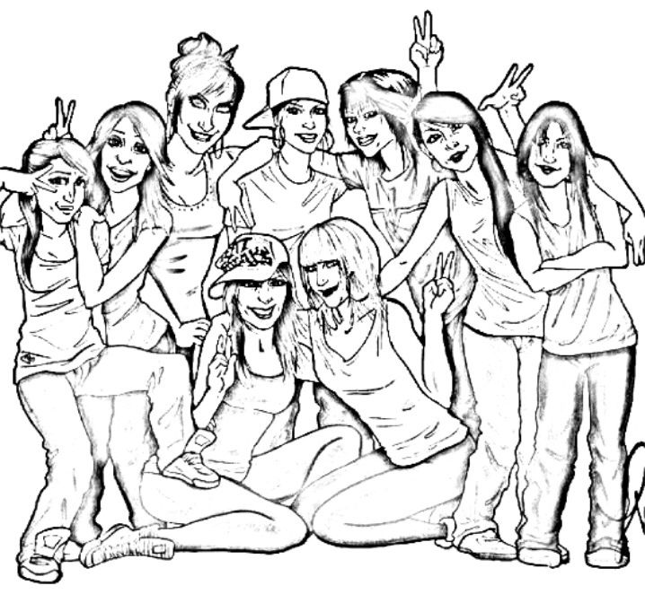 where my bgirls at?  hip hop coloring book compiled