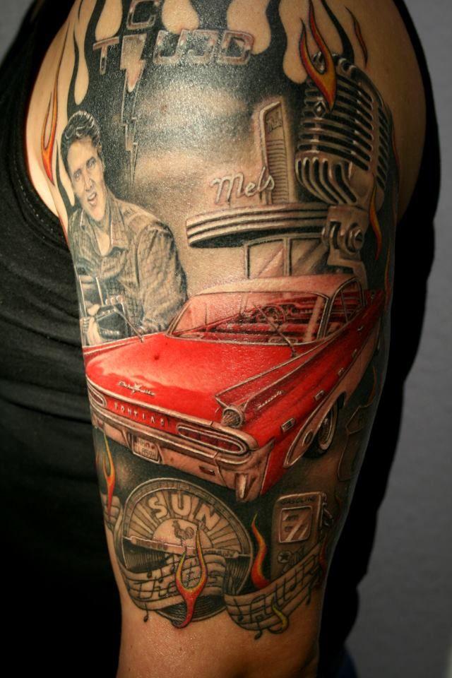 Elvis Rockabilly Tattoolove  Elvis Tattoos  Pinterest