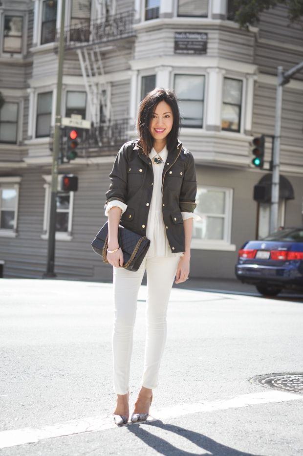 white denim in fall