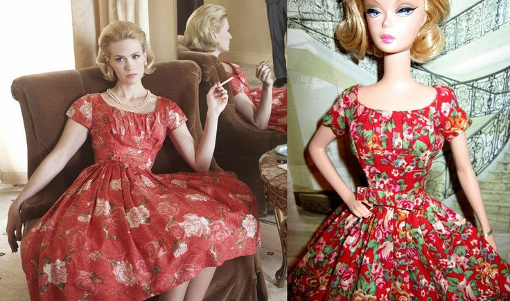 Mad Style Betty Drapper Rose Dress for Barbie
