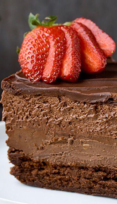Quadruple Chocolate Mousse Cake