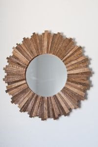 reclaimed wood starburst mirror | i want that | Pinterest