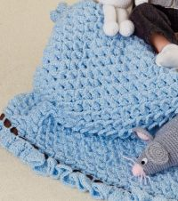 Crocodile Stitch Baby Blanket