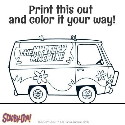 Mystery Machine Van Scooby Doo Coloring Pages Coloring Pages