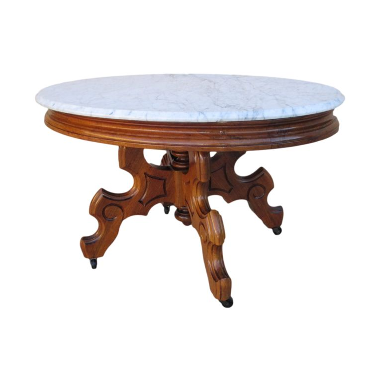 Antique Marble Top Coffee Table Value