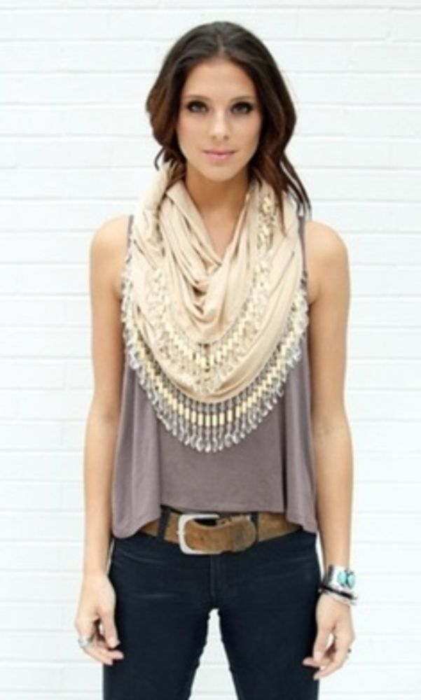 Loose top and scarf