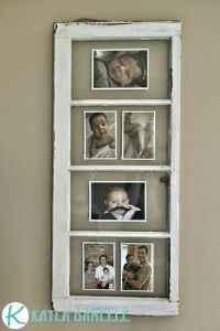 Old Window Picture Frames | Cute ideas | Pinterest