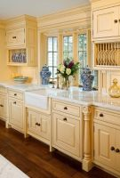 Beautiful Yellow Kitchen Cabinets   For the Home   Pinterest