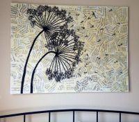 Dandelion DIY Canvas Wall Art | Craft Ideas | Pinterest