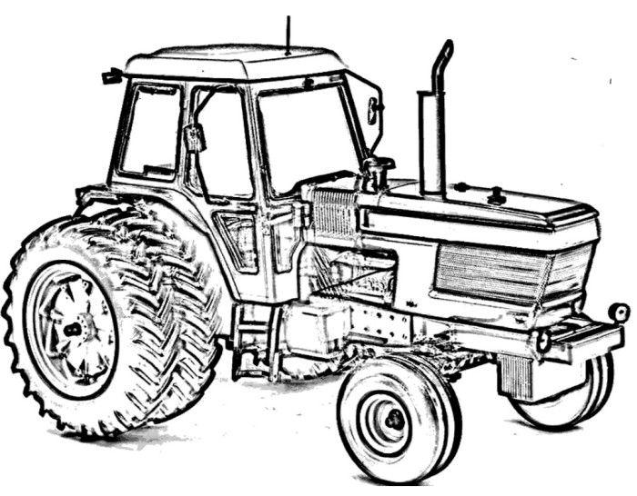 Kleurplaat Ford Tractor • Kidkleurplaat.nl