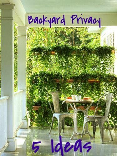 backyard garden privacy ideas