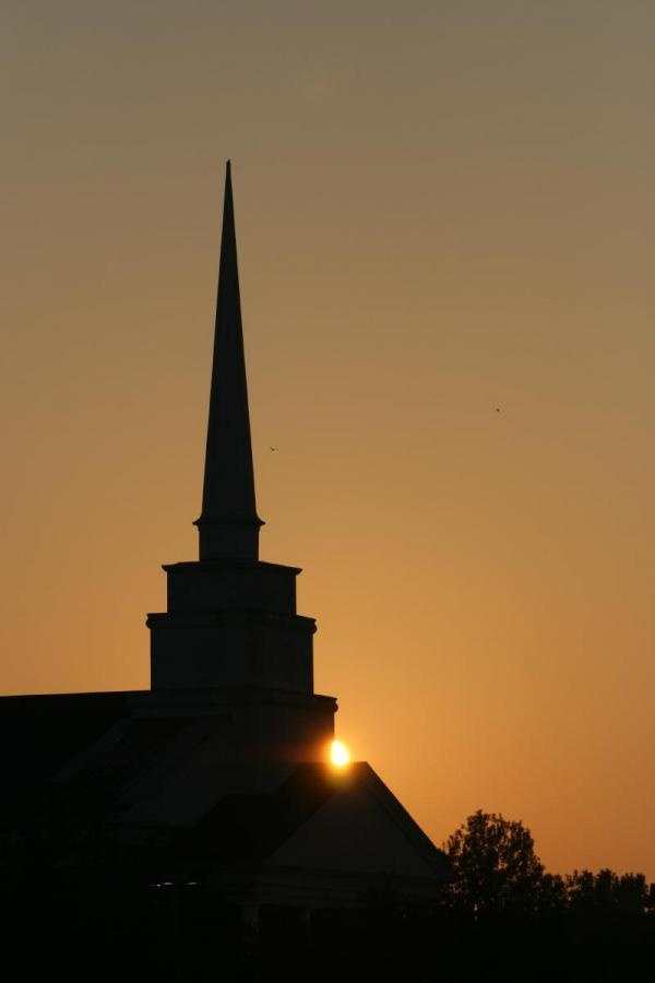 Church Steeple Sunrise Silhouette