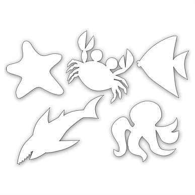 We could use paper cutouts of ocean animals in green