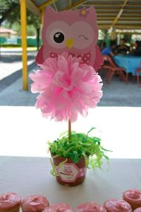 owl centerpiece ideas