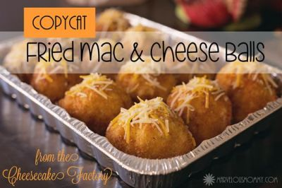 Deep-Fried Macaroni and Cheese Balls #Recipe « Recipes « Marvelous Mommy