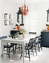 Black & white tables and chairs | Finish the Kitchen ...