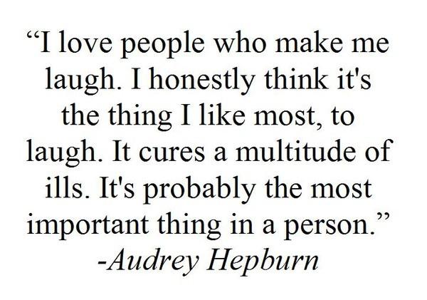 Audrey Hepburn - LAUGH <3