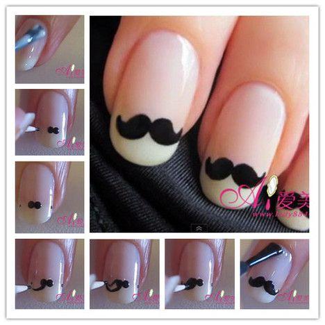 Tuto vidéo : Moustaches nail art | Bijoux sucrés, Bijoux fantaisie, Bijoux gourmands, Pâte Fimo, Nail Art et Miniatures gourmandes