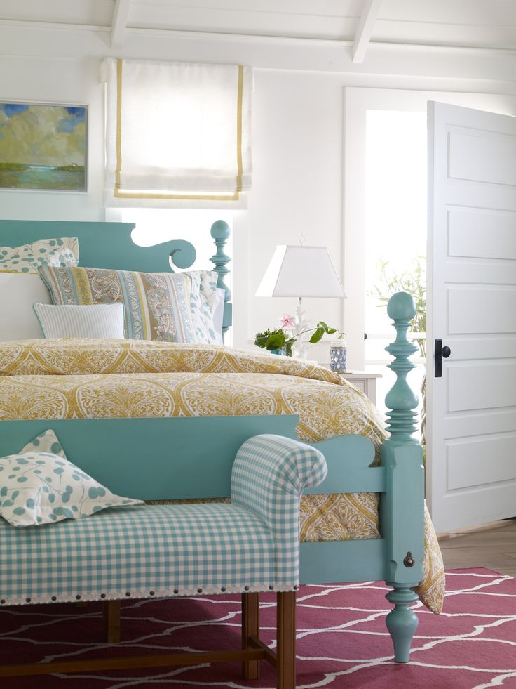 We love pretty, unexpected finishes! Pair them with complementary fabrics and accessories to infuse your bedroom with cohesive style.