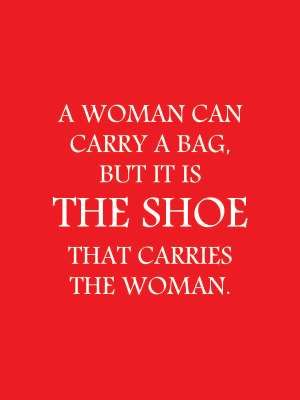 SHOE QUOTES - Frames | Red and White | Shoe Quotes | Fashion Quotes | Shoe | Bag | White Frame | Home Decor | Style Fiesta