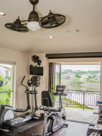 Double ceiling fans for Home gym | For My Home | Pinterest