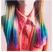 rainbow tips hair