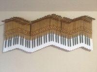 Piano key wall art