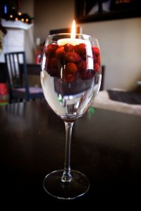 wine glass centerpiece | party | Pinterest