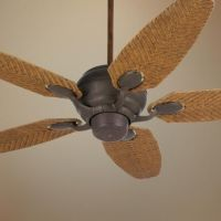 "52"" Casa Optima Honey Rattan Blades Ceiling Fan"