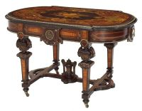 INLAID CENTER TABLE   Victorian & Other Fancy Furniture ...