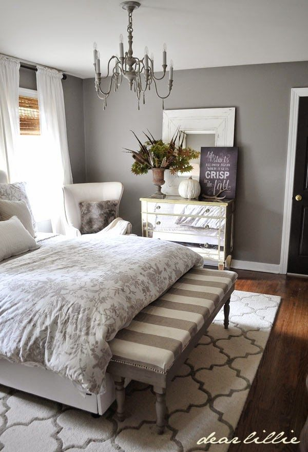 Dear Lillie Fall Home Tour - I love this peaceful bedroom