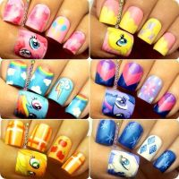 My Little Pony nails | Nails | Pinterest