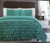 New Cynthia Rowley Twin XL Comforter Set Ruffles Teal ...