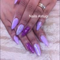 Purple acrylic nail | Purple Acrylic Nails | Pinterest