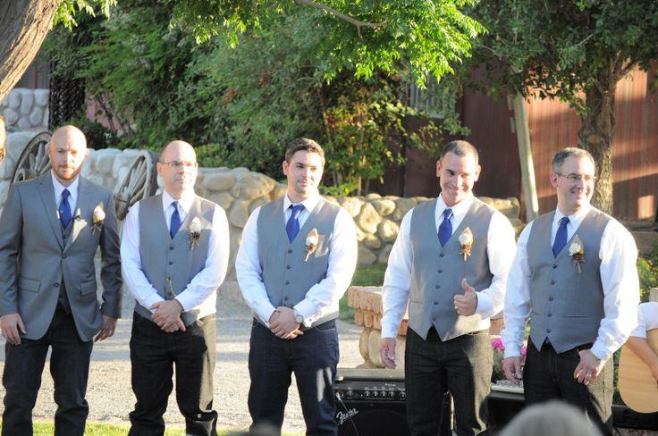 rustic  country wedding groomsmen  Rustic Weddings  Pinterest