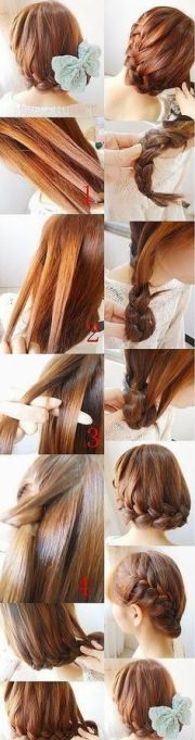 beautiful braided hairstyle step