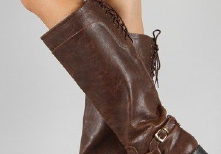 Back Lace Up Riding Boot