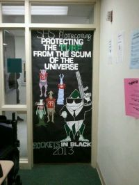Men in Black Homecoming Door Decoration